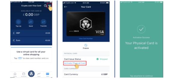 aktywacja karty crypto.com